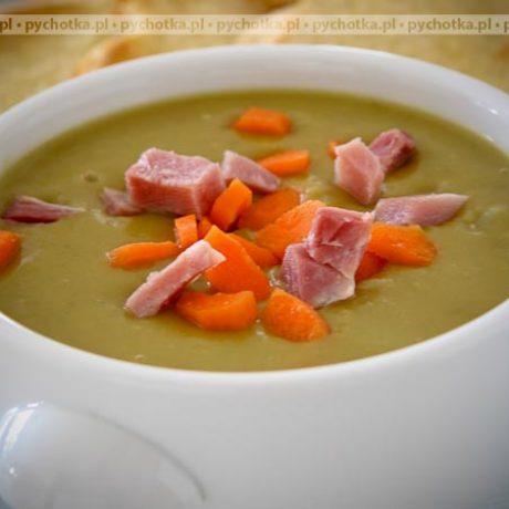 Zupa krem z groszku.