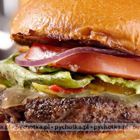 Surf and turf czyli burger z pikantnym karmelizowanym majonezem