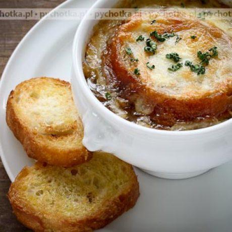 Zupa cebulowa z chlebem