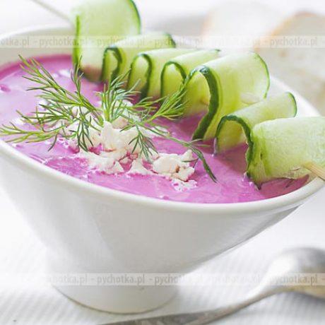 Chłodnik z botwinki z zieleniną
