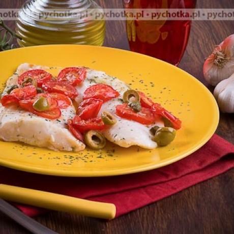 Filet z pangi z pomidorkami pieczony na grillu