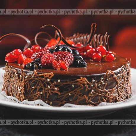 Tort z gorzkiej czekolady