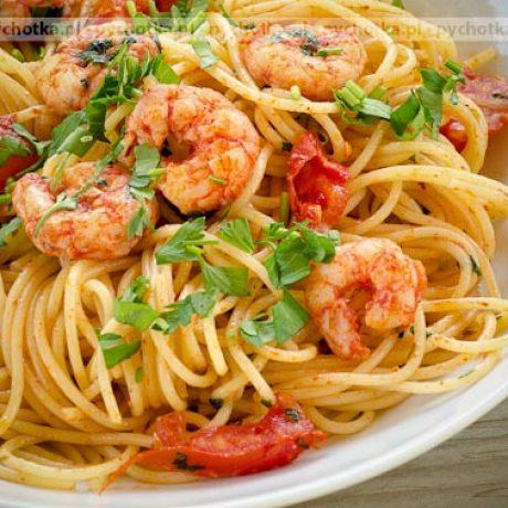 Spaghetti z krewetkami Kasi