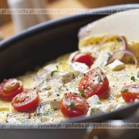 Omlet z pomidorkami i cebulą Uli