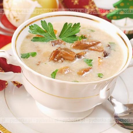 Zupa grzybowa na wigilię Oli