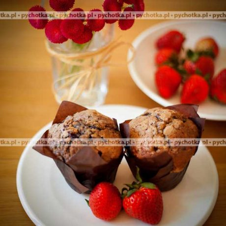 Muffinki czekoladowe z truskawkami Marii